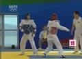视频-中国跆拳道奥运赛前热身 一切以实战为重
