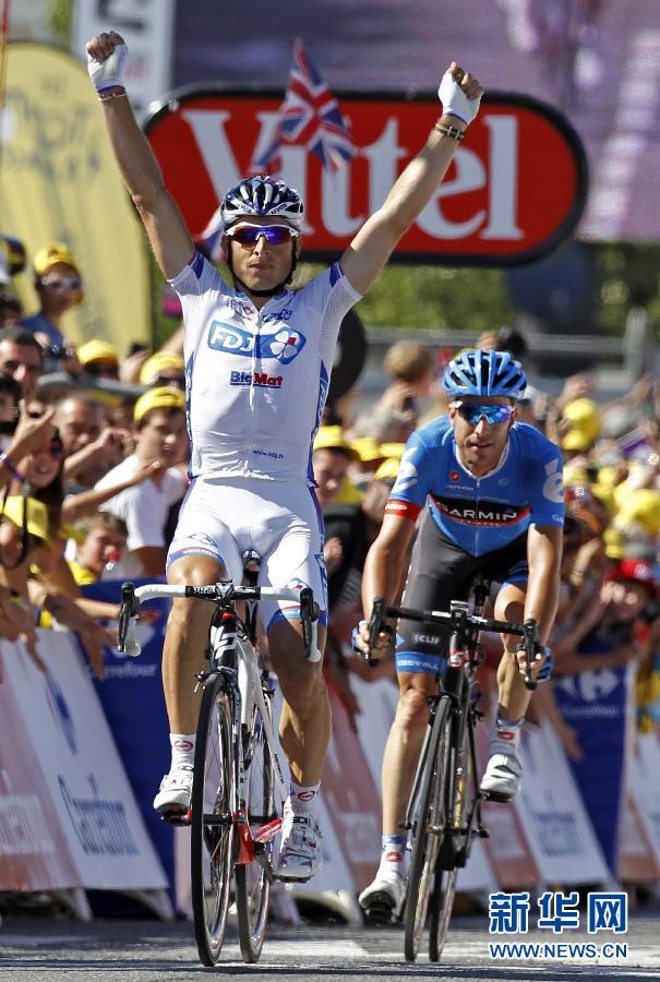 环法自行车第15赛段 法国车手费德里戈夺冠