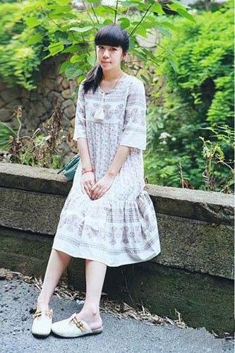 森林风宽松连衣裙