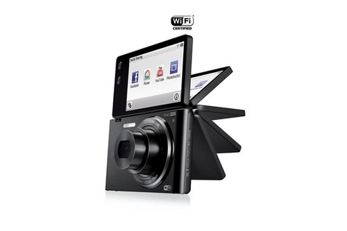 Wi-Fi+翻转屏  三星发布MV900F数码相机