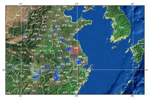 中新网7月20日电据中国地震台网测定,北京时间2012年7月20日20时11分在江苏省扬州市高邮市、宝应县交界(北纬33.0,东经119.6)发生4.9级地震, 震源深度5公里。