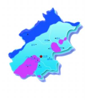 北京市区县简略地图