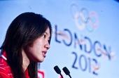 图文:中国女子水球队送行会 队员马欢欢发言