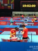 图文:国乒进入奥运场馆训练 队员适应场地
