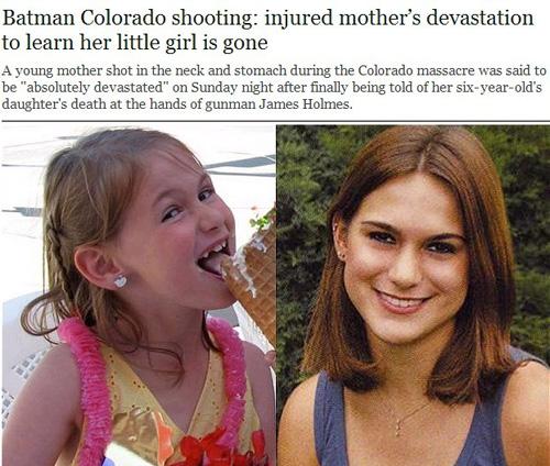 丹佛枪击案最小遇难者维罗妮卡・莫瑟尔・苏利文左和她的母亲阿什利・莫瑟尔网页截图