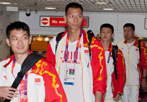 中国男篮抵达伦敦