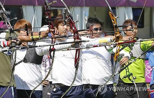 韩射箭队 万事俱备 欲包揽奥运射箭全金