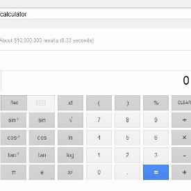 Google计算器