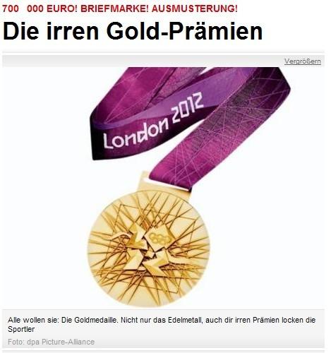 《图片报》盘点参赛国奥运奖金