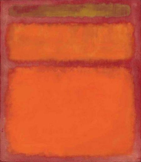 《橙,红,黄》抽象画
