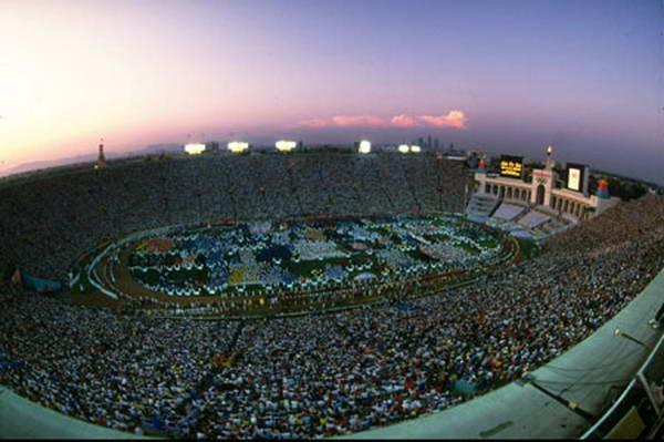 图文:细数经典奥运开幕式 1984年洛杉矶奥运会