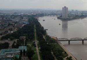 鸟瞰朝鲜首都平壤
