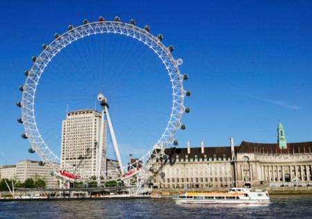 """英国的摩天轮""""伦敦眼"""""""