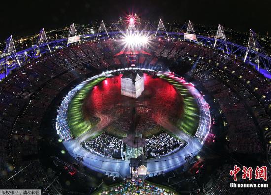 伦敦奥运会开幕 多文化符号展示英伦风范(图)