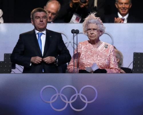 伦敦奥运开幕 英女王宣布伦敦奥运会开幕图片