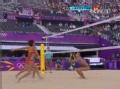 奥运视频-张希飞身轻挑得分 沙排中国VS俄罗斯