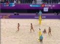 奥运视频-薛晨近网拦球 俄罗斯选手防守不及时