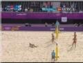 奥运视频-沃扎科娃扣压线球 沙排中国VS俄罗斯