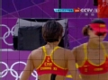奥运视频-张希假动作轻挑球 沙排中国VS俄罗斯