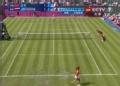奥运视频-李娜奔跑中暴扣底线球 奥运女单网球