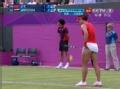 奥运视频-李娜发球抢攻勾对角得分 保住破发点