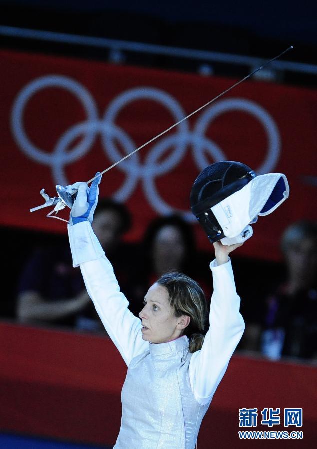 女子个人花剑:韦扎利获得铜牌