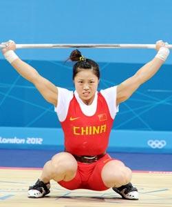 举重女子53KG-周俊3次抓举没成功 出局无缘奖牌