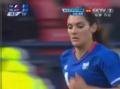 奥运视频-美女球员内西罚角球 女足法国VS朝鲜