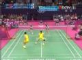 奥运视频-张楠赵芸蕾配合失误 羽毛球混双小组赛