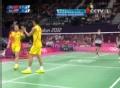 奥运视频-张楠后场连续回球 俄罗斯组合终不敌