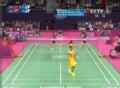 奥运视频-张楠后场高速扣杀 羽毛球混双小组赛