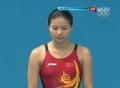 奥运视频-女双3米板决赛 第1组何姿吴敏霞居第1