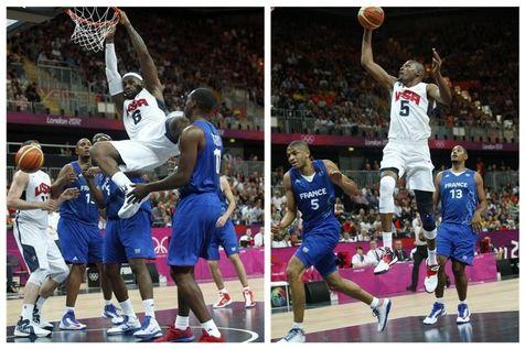 在奥运会男篮的首个比赛日上,美国梦十队迎战劲敌法国队,结果以98-71