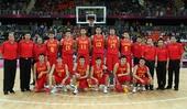 图文:中国男篮憾败西班牙 中国队赛前合影