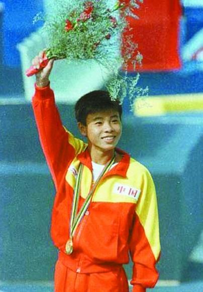 1992年巴塞罗那奥运会男子单人10米台冠军孙淑伟图片