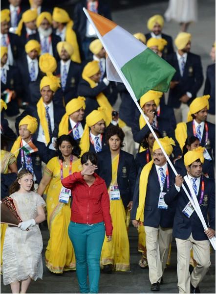 神秘女子现开幕式 印度代表团提出抗议(1/3)