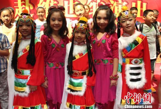 新疆德汇王洛宾艺术少儿合唱团已拥有成员70人 马卫平摄