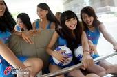 图文:广州富力足球宝贝选拔 足球宝贝美丽动人