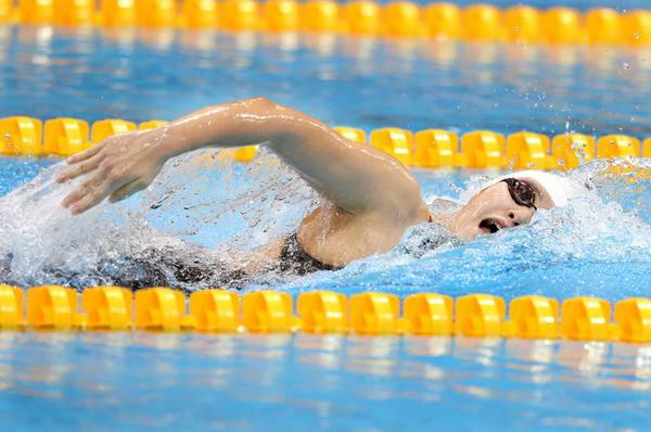 在女子200米混合泳预赛中,刚夺得400米混合泳金牌的叶诗文延续了良好图片