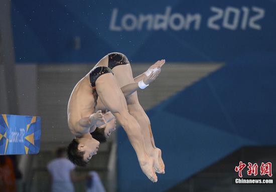 12年伦敦奥运会跳水_当地时间7月30日,伦敦奥运会跳水男子双人10米台决赛,中国选手曹缘
