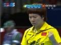 奥运视频-李晓霞正手反拉进攻 乒乓球女子单打