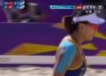 奥运视频-张希拼发球跳飘出界 沙排中国VS瑞士