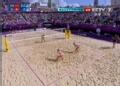 奥运视频-张希垫后排空挡得分 沙排中国VS瑞士