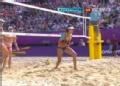 奥运视频-薛晨前排拦网得分 沙排中国VS瑞士
