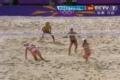 奥运视频-薛晨猛攻对方后路 沙排中国VS瑞士