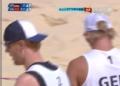 奥运视频-布林克倒地飞扑救球 沙排中国VS德国