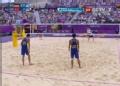 奥运视频-瑞科曼大力扣杀得分 沙排中国VS德国