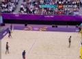 奥运视频-瑞科曼接球暴扣得分 沙排中国VS德国
