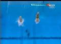 奥运视频-德国运动员抱膝翻腾 男子10米台决赛