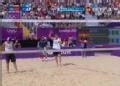奥运视频-瑞科曼单手拦网得分 沙排中国VS德国